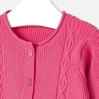 Cardigan Gracey rosa zoom