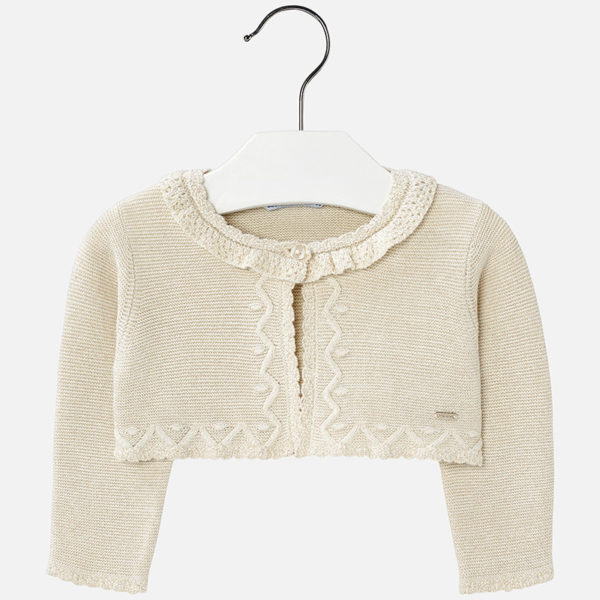 Cardigan Viveka champagne front