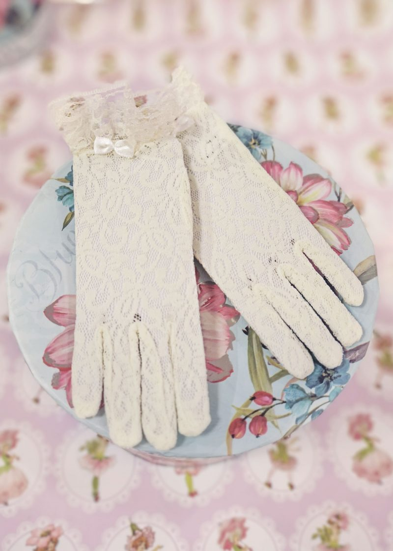 Lace Gloves ivory