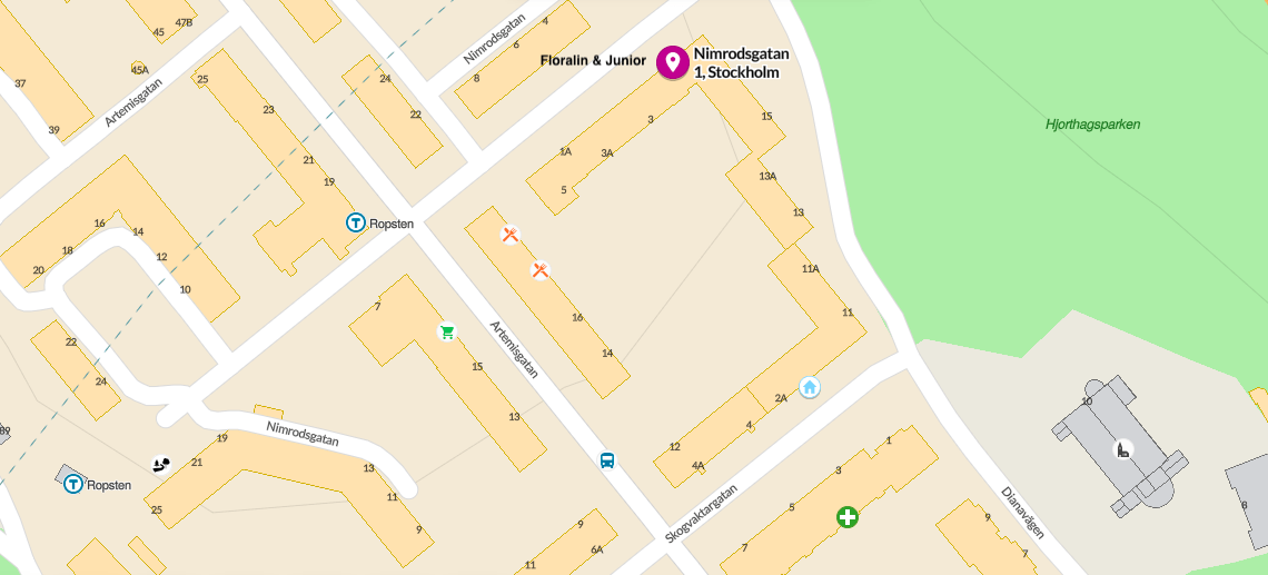 Nimrodsgatan 1 map