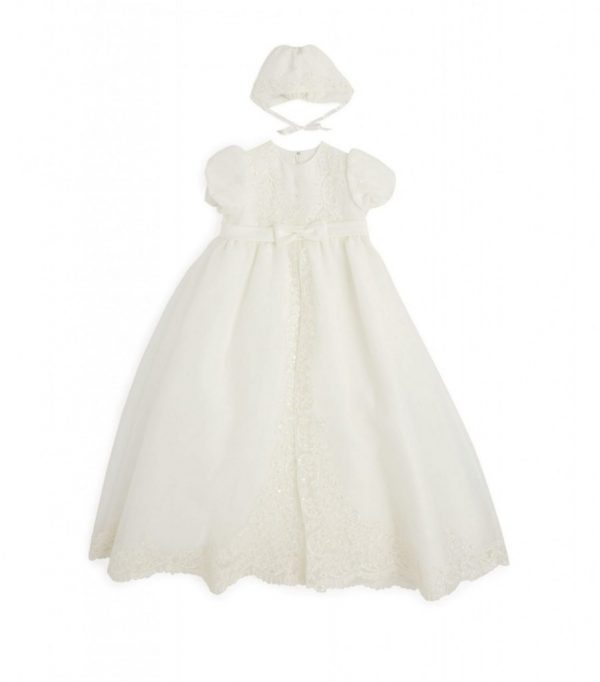 Sarah Louise Beaded Christening Gown front